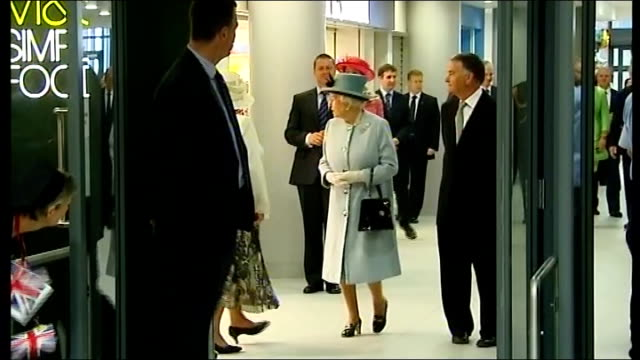 queen elizabeth opens new hospital in stirling; scotland: stirling: forth valley royal hospitall: ext **flashlight photography throughout** queen... - stirling stock videos & royalty-free footage