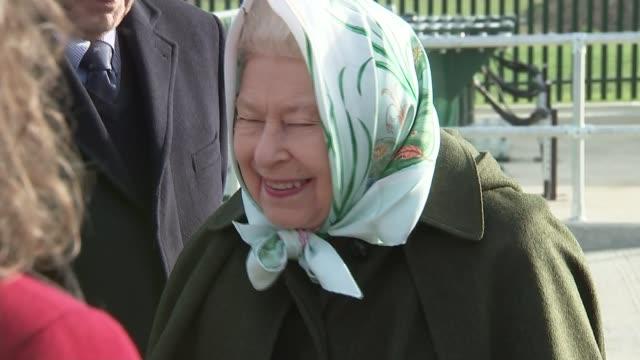 queen elizabeth opens new pumping station on sandringham estate; england: norfolk: sandringham estate: wolferton pumping station: int further shots... - エリザベス2世点の映像素材/bロール