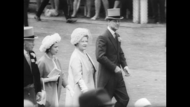 Queen Elizabeth Prince Philip the Queen Mother Prince Rainier and Princess Grace Rainier are all in attendance at Ascot's opening day / royals take...