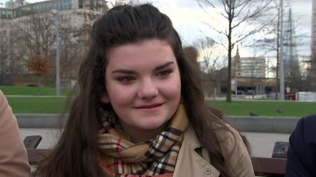 queen elizabeth unveils iraq and afghanistan national war memorial; england: london: ext **harper-titchener interview overlaid sot** matheson and... - war stock-videos und b-roll-filmmaterial