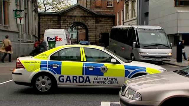 queen elizabeth visit police security in dublin ireland dublin ext various general views of irish police along / garda speaking to van driver / garda... - dublin republic of ireland stock videos & royalty-free footage