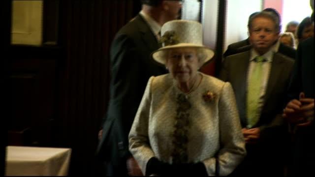 queen elizabeth visit queen visits trinity college library ** beware queen elizabeth up stairs then being shown portrait of queen elizabeth i /... - elizabeth i of england stock videos & royalty-free footage