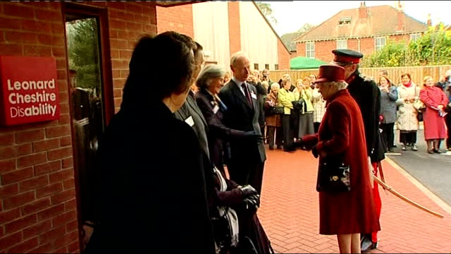 queen elizabeth visits agnes court leonard cheshire disability clinic; england: oxfordshire: banbury: agnes court leonard cheshire disability clinic:... - oxfordshire stock videos & royalty-free footage
