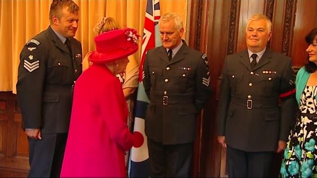 Queen Elizabeth visits Royal Auxiliary Air Force 603 Squadron HQ in Edinburgh SCOTLAND Edinburgh EXT Queen Elizabeth II and Prince Philip Duke of...