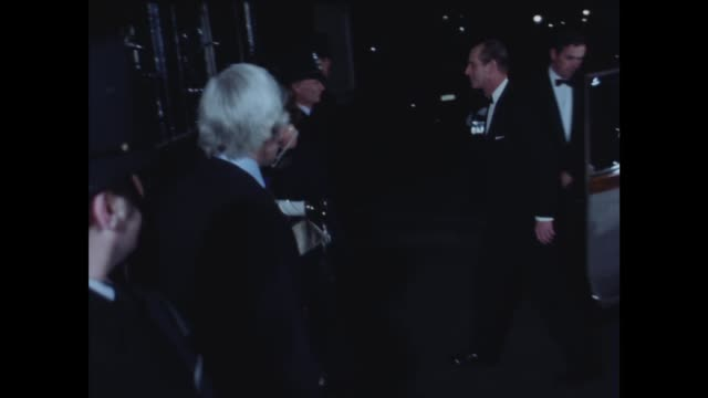 queen has dinner with harold wilson to mark his retirement as pm london ms queen elizabeth and duke out car to no 10 int cms queen and wilson smile... - harold wilson stock-videos und b-roll-filmmaterial