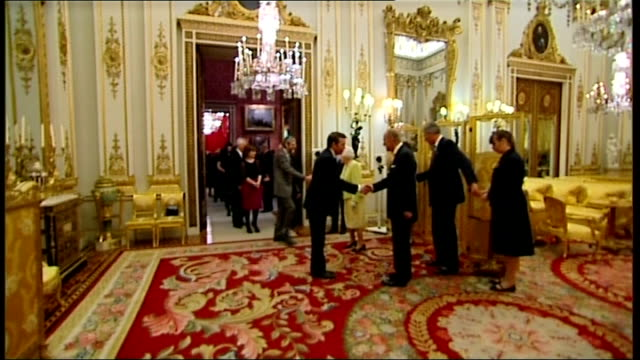queen hosts reception to mark 200th anniversary of birth of charles dickens england london buckingham palace int various shots of queen elizabeth ii... - charles dickens stock videos & royalty-free footage