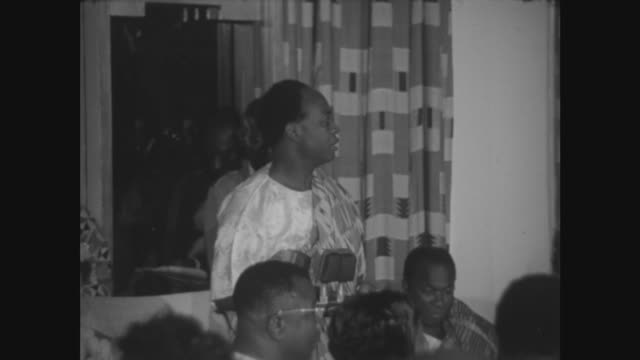 ambassador hotel state dinner drnkrumah and the queen gives speeches speaking sot sometime ago in another connection unaffected by that hurricane... - ghana stock videos & royalty-free footage