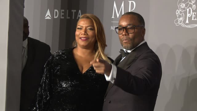 Queen Latifah and Lee Daniels at the 20th Annual amfAR Gala New York at Cipriani Wall Street on February 07 2018 in New York City