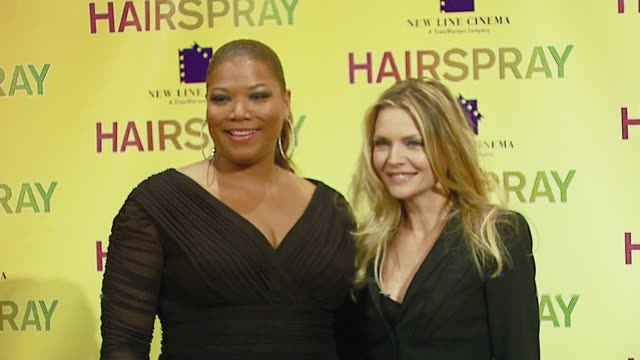 queen latifah and michelle pfeiffer at the 2007 showest at the paris hotel in las vegas, nevada on march 14, 2007. - paris las vegas stock videos & royalty-free footage