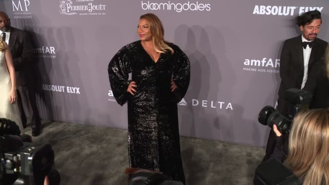 queen latifah at 20th annual amfar gala new york at cipriani wall street on february 07 2018 in new york city - amfar stock videos & royalty-free footage