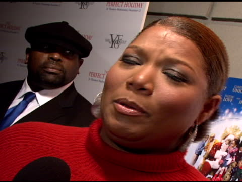 queen latifah at the stars come out to party and celebrate the perfect holiday at marquee in new york new york on december 10 2007 - marquee nightclub manhattan stock-videos und b-roll-filmmaterial