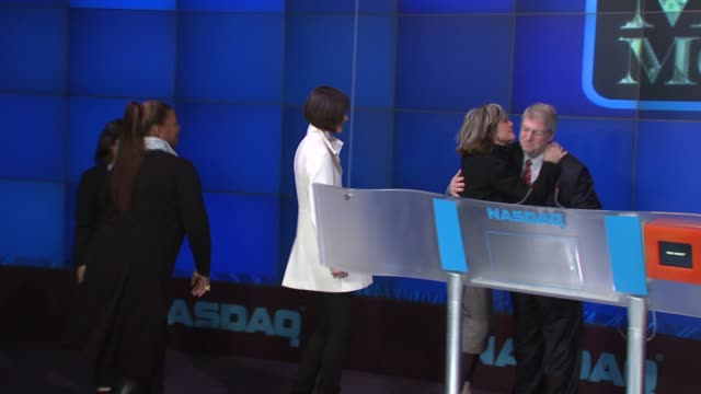 queen latifah katie holmes and diane keaton from the film 'mad money' at the nasdaq opening bell ringing ceremony with the stars of 'mad money' at... - diane keaton stock videos & royalty-free footage
