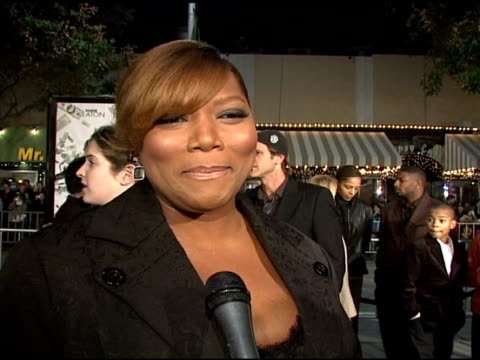 Queen Latifah on the film and the appeal of a heist movie at the 'Mad Money' Premiere at the Mann Village Theatre in Westwood California on January 9...