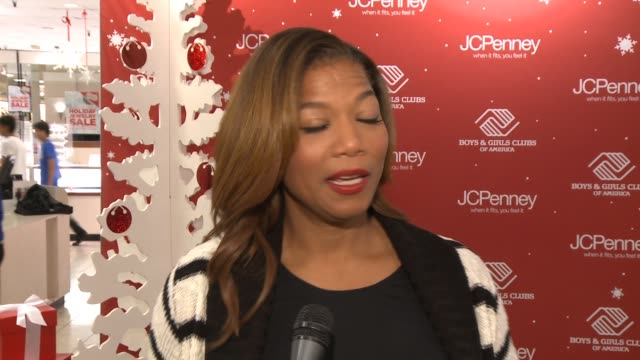 queen latifah on what brings her out today, what she appreciates about the boys & girls club, what she's most looking forward to today, her thoughts... - altruismo video stock e b–roll