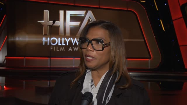 interview queen latifah on why she wanted to host the show how she's been preparing for the big day her preshow rituals and the award season's movies... - hollywood palladium stock videos & royalty-free footage