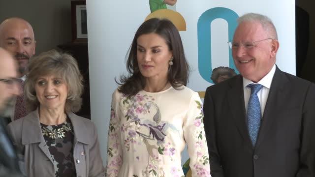 vídeos y material grabado en eventos de stock de queen letizia attends 'mental health world day' event in - letizia