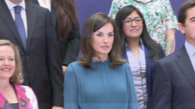queen letizia of spain attends 'microfinanzas bbva' foundation - queen letizia of spain stock videos and b-roll footage