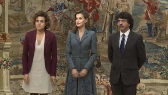 queen letizia of spain attends 'reina letizia' awards at el pardo palace on november 21 2017 in madrid spain - queen letizia of spain stock videos and b-roll footage