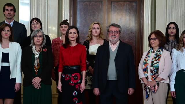 ESP: Queen Letizia Of Spain Attend Audiences At Zarzuela Palace