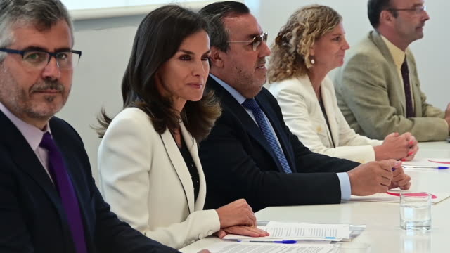 ESP: Queen Letizia Of Spain Attends 'The Inclusion Of Disability In News Media' Forum