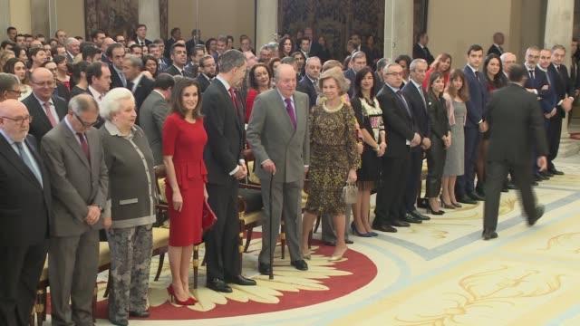 Queen Letizia of Spain King Felipe VI of Spain Former Queen Sofia of Spain Former King Juan Carlos I of Spain Keylor Navas Sandra Sanchez and Juan...