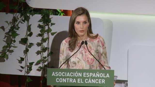 queen letizia of spain presides aecc event on research on cancer international day at prado museum on september 22 2017 in madrid spain - queen letizia of spain stock videos and b-roll footage