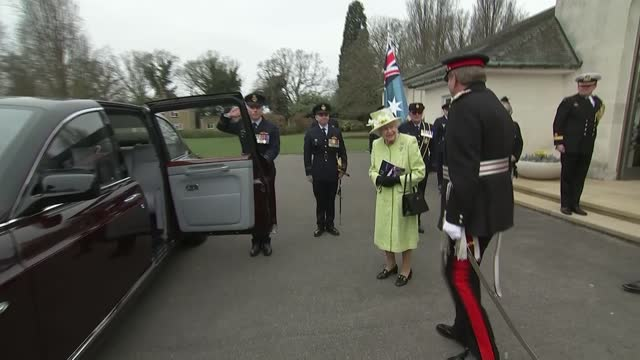 queen marks centenary of the royal australian air force at the cwgc air forces memorial; england: runnymede: cwgc air forces memorial: ext george... - wind stock videos & royalty-free footage