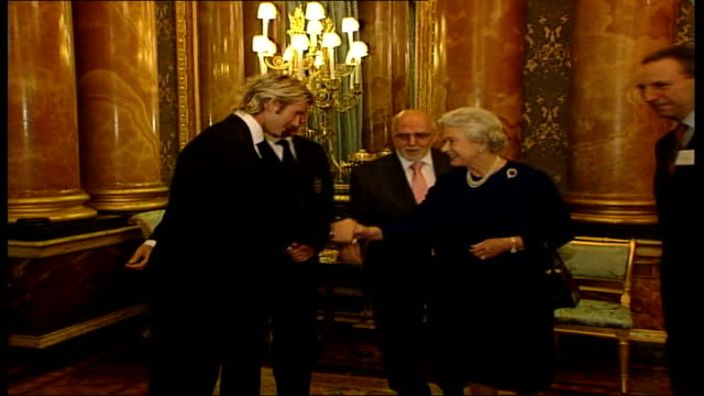 queen meet england football team at buckingham palace reception england london buckingham palace queen elizabeth ii into room introduced to sven... - 2002 stock videos & royalty-free footage
