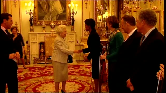 queen meets condoleezza rice and rice plays piano recital england london buckingham palace photography*** condoleezza rice and members of the london... - london symphony orchestra stock videos & royalty-free footage
