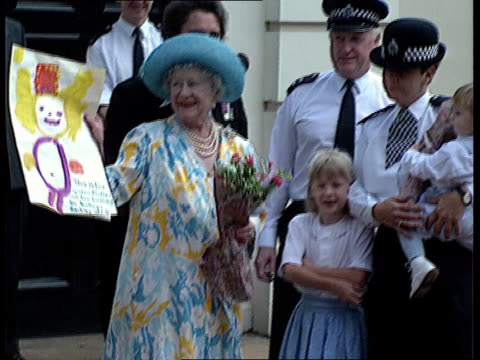 92nd birthday celebrations; naf england: london: clarence house lms guards band with irish wolfhound mascot along past clarence house in birthday... - mid wales stock videos & royalty-free footage