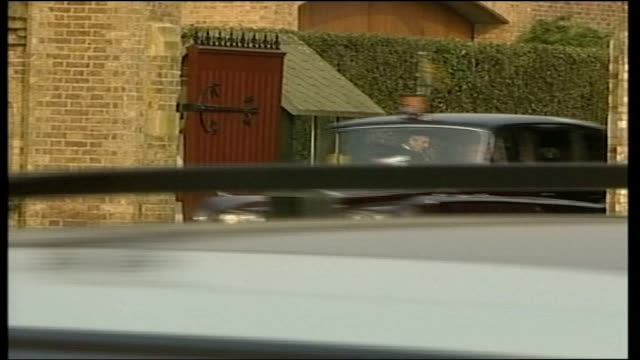 queen and prince philip leave windsor england berkshire windsor cars emerging queen elizabeth ii and prince philip leaving in car - elizabeth ii stock videos & royalty-free footage