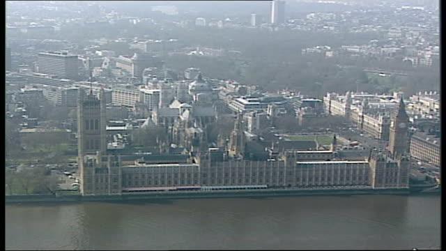 westminster aerials england london westminster air view large queue across lambeth bridge palace of westminster london eye / air view large queue of... - lambeth stock videos & royalty-free footage