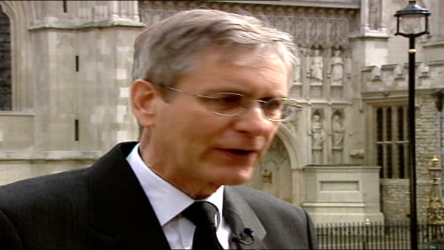 queen mother funeral special: 13.25 - 14.30:; england: london: live 2 way ex westminster abbey mary nightingale professor ian bruce interview sot -... - mary nightingale stock videos & royalty-free footage