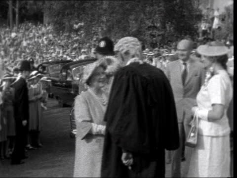 queen mother in new zealand 630 remains on end of above visits girls high school zealand hamilton ms queen mother out of car and meets mayor cs being... - 1958 stock videos & royalty-free footage