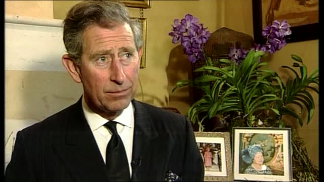 1000 1100 itn england gloucestershire highgrove prince charles prince of wales interviewed sot i know what my darling grandmother meant to so many... - eternity stock videos & royalty-free footage