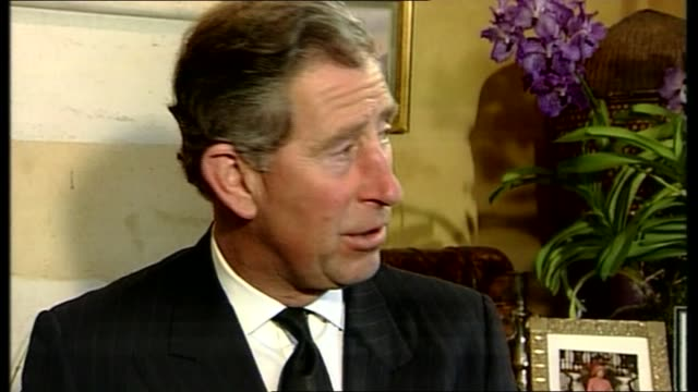 1000 1100 itn gloucestershire highgrove prince charles prince of wales interviewed sot - queen dowager stock videos & royalty-free footage
