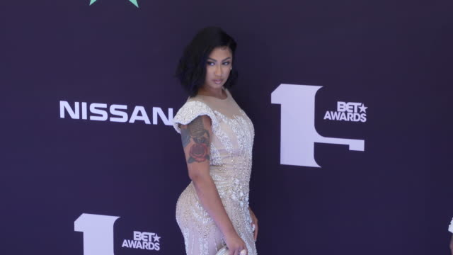 queen naija at the 2019 bet awards at microsoft theater on june 23 2019 in los angeles california - bet awards stock-videos und b-roll-filmmaterial
