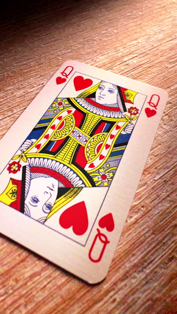 queen of hearts playing cards. ds. - royalty stock videos & royalty-free footage