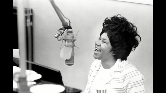 gif queen of soul aretha franklin during 'the weight' recording session in the atlantic records recording studio on january 10 1969 in new york city... - soul music stock videos & royalty-free footage