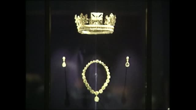 queen opens new art gallery at buckingham palace; england: london: buckingham palace: int bv prince charles welcoming queen elizabeth ii to opening... - french revolution stock videos & royalty-free footage