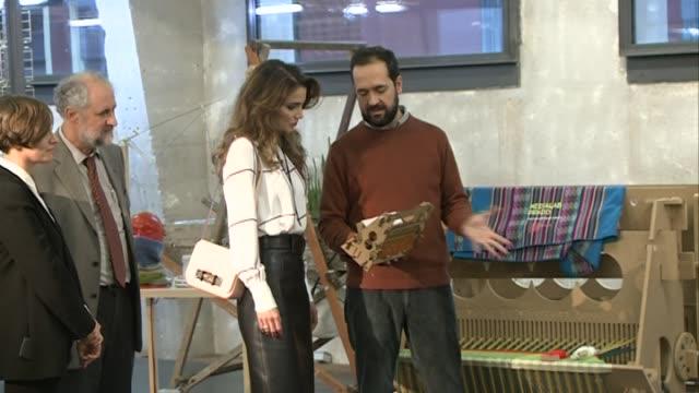 Queen Rania of Jordan visits the Prado Media Lab Center