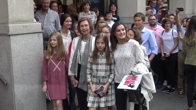 Queen Sofia Queen Letizia of Spain Princess Leonor of Spain Princess Sofia of Spain Irene Urdangarin Victoria Federica de Marichalar and Queen...