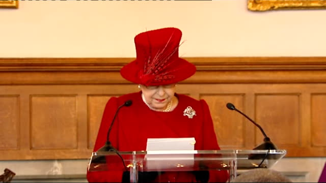 queen speaks of role of church of england in speech at lambeth palace int queen elizabeth ii speech sot the concept of our established church is... - lambeth stock-videos und b-roll-filmmaterial