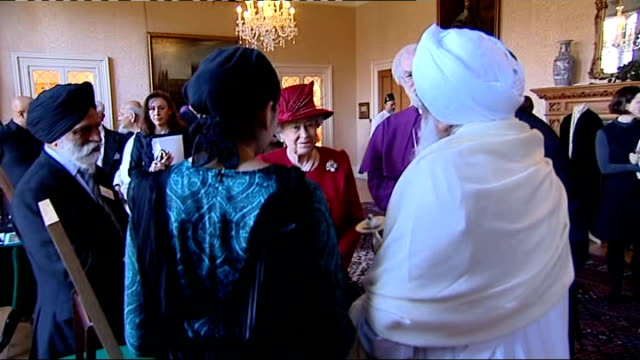 queen speaks of role of church of england in speech at lambeth palace england london lambeth palace int general views of queen elizabeth ii meeting... - lambeth stock-videos und b-roll-filmmaterial