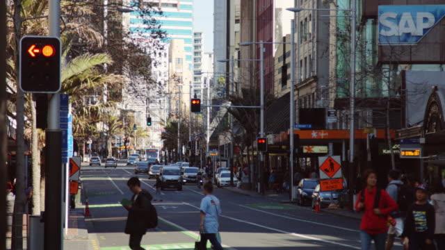 Queen Street Crowds in Auckland