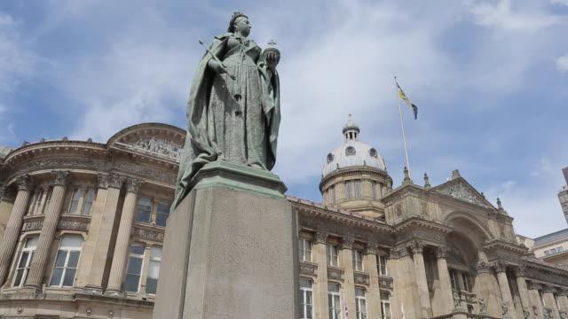 Queen Victoria Statue & Council House & Victoria Square, Birmingham, West Midlands, England, United Kingdom, Europe
