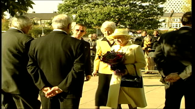 queen visits market traders in enfield england london enfield queen elizabeth ii and prince philip the duke of edinburgh along with official zoom in... - flower stock videos & royalty-free footage