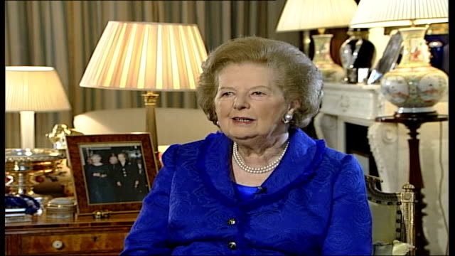 queen's 80th birthday baroness thatcher interview england london int baroness thatcher interview sot my very first audience as prime minister with... - affectionate stock videos & royalty-free footage