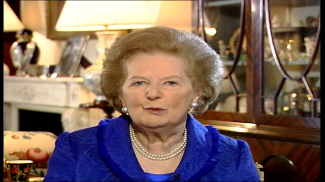 queen's 80th birthday baroness thatcher interview england london baroness thatcher interview sot my very first audience as prime minister with her... - affectionate stock videos & royalty-free footage