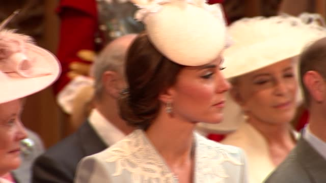 queen's 90th birthday celebrations duke and duchess of cambridge attend guildhall reception more of speech sot / duke and duchess of cambridge... - princess michael of kent stock videos and b-roll footage